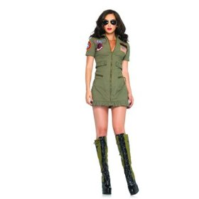 Top gun women's flight dress adult costume