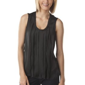 Mossimo® women's satin sleeveless top - black