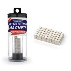 Magcraft nsn0570 1/8-inch rare earth cube magnets, 100-count
