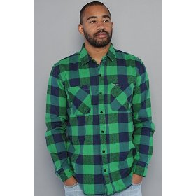Lrg the present future buttondown shirt in kelly,buttondown shirts for men