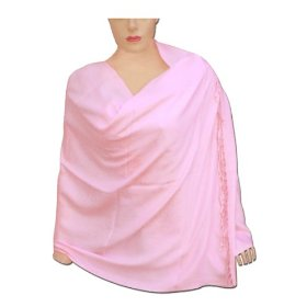 Handmade plain viscose stole women outerwear dress in pink color stle0046r