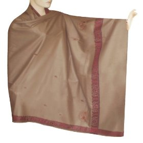 Handmade party wear cotton shawl with designer border  shwl0048r