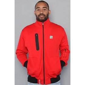 Lrg the blade gunner track jacket in red,jackets for men