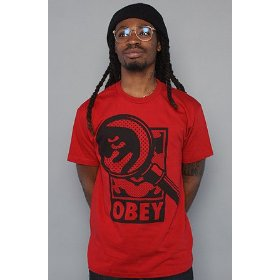 Obey the magnified tee in red,t-shirts for men
