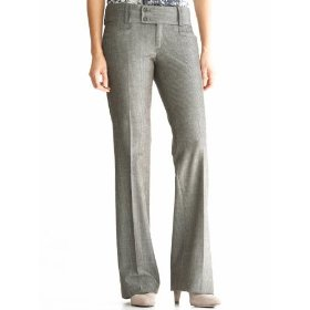 Banana republic sloan fit herringbone flare pant