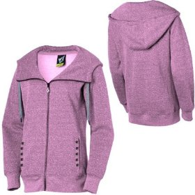 Volcom wendell long novelty full-zip hooded sweatshirt - women's
