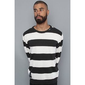 Lrg core collection the cc striped sweater in black heather,sweaters for men