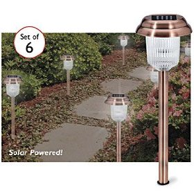 Copper finish solar lights set