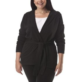 Womens' plus-size merona® ebony long-sleeve hoodie sweater