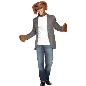 Brown dog adult costume kit