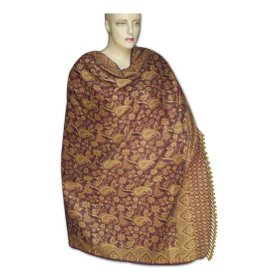 Handmade jamawar cotton shawl with designer border for women gift  shwl0056r