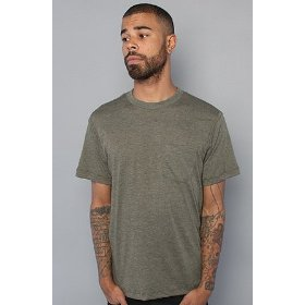 Rvca the ptc tee in olive,basic t-shirts for men