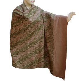 Handcrafted kashmiri embroidered shawl in wool fabric shwl0011r