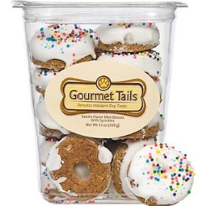Gourmet Tails Vanilla Mini Donuts with Sprinkles Dog Treats