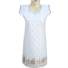 Handmade embroidered cotton top with sequins women wear lltop0093r