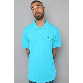 Lrg core collection the grass roots polo in turquoise,polos for men