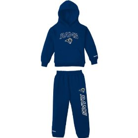 Reebok st. louis rams infant 2 pc hooded sweatshirt & sweatpant set