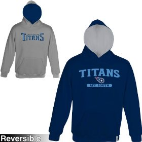 Reebok tennessee titans boys (4-7) home & away reversible hooded sweatshirt