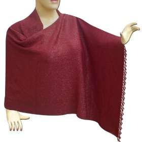 Handmade comfortable stole with shinning base evening dress stle0040r