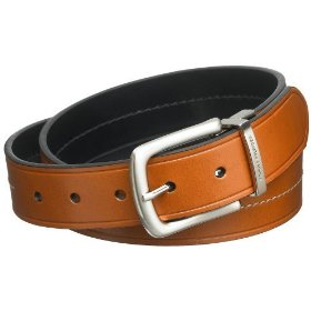 Tommy hilfiger men's italian saddle bridle reversible belt