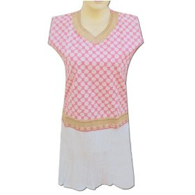 Rubber printed cotton top with jute & sequins work gift for her lltop0152r
