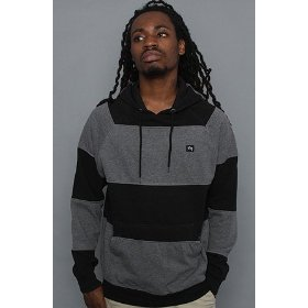 Lrg core collection the cc striped hoody in black hood ,sweatshirts for men