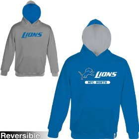 Reebok detroit lions boys (4-7) home & away reversible hooded sweatshirt