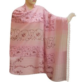 Pure soft wool kashmiri embridered or cashmere pashmina shawl from kashmir gift for her shwl0138r
