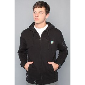 Lrg the present future full zip hoody in black hood ,sweatshirts for men