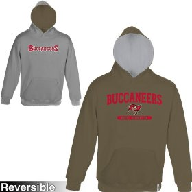 Reebok tampa bay buccaneers boys (4-7) home & away reversible hooded sweatshirt