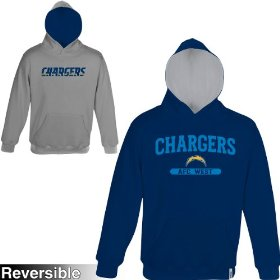 Reebok san diego chargers boys (4-7) home & away reversible hooded sweatshirt