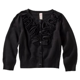 Infant toddler girls' cherokee® ebony long-sleeve rouched sweater