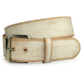 Genuine vintage retro leather belt - interchangeable buckle