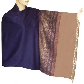 Handmade self design mix wool shawl with plain border from india, pleasant gift for her shwl0135r
