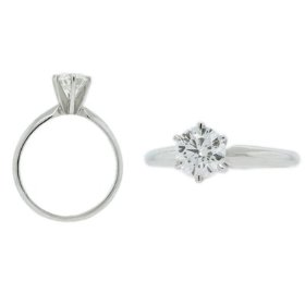 1 ct round diamond solitaire ring in 14k white or yellow gold (d color, i clarity, 1.00 carat, yello