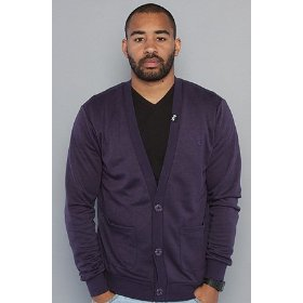 Lrg the shine on your dime cardigan in plum,sweaters for men