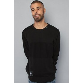 Lrg core collection the grass roots sweater in black,sweaters for men