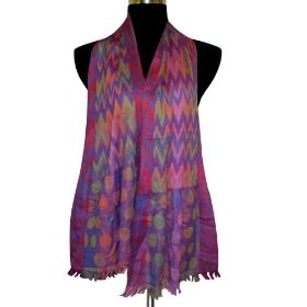 Soft multi color lycra (stretchable) cotton silk scarf, gift for her scrf0119r