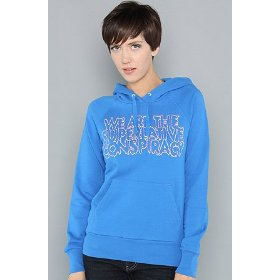 Wesc the superlative shock pullover hoody in blue hood ,sweatshirts for women