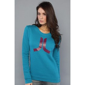Wesc the icon crew sweatshirt in blue coral hood ,sweatshirts for women