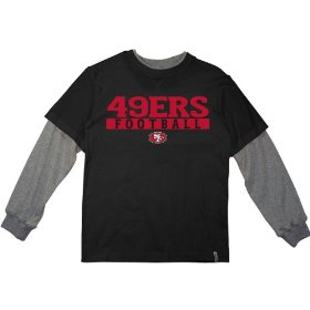 Reebok san francisco 49ers boys (4-7) long sleeve splitter alternate t-shirt