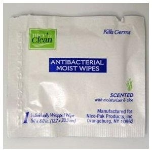 Nice n clean anti-bacterial wipes (case of 24)
