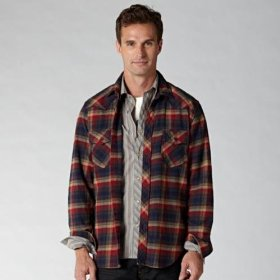 Fossil jeremy western flannel shirt