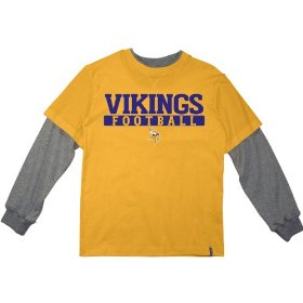 Reebok minnesota vikings boys (4-7) long sleeve splitter alternate t-shirt
