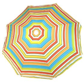 Rio brands deluxe 6 foot sun blocking beach umbrella