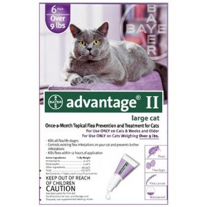 Advantage Flea Preventative 6pk Cat Purple Over 9 Lbs
