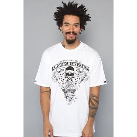 Crooks and castles the genuine articles tee in white,t-shirts for men