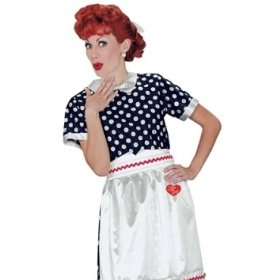 I love lucy polka dot dress adult halloween costume s