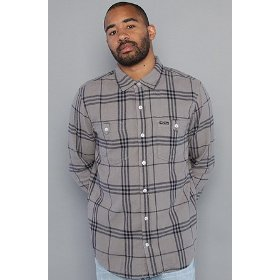 Lrg the fight on buttondown shirt in ash,buttondown shirts for men
