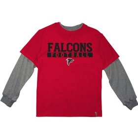 Reebok atlanta falcons boys (4-7) long sleeve splitter alternate t-shirt